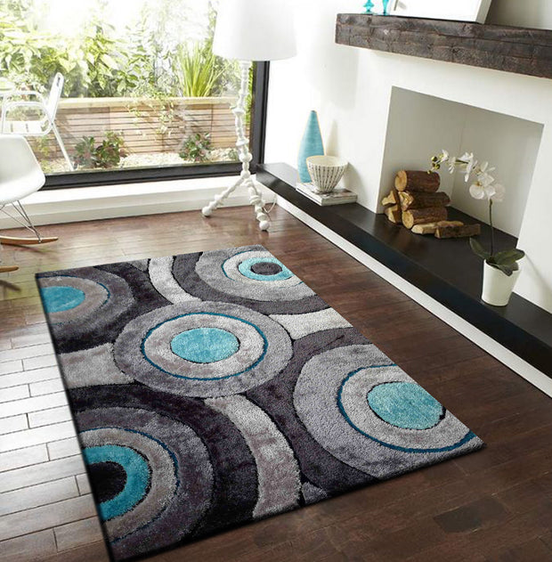 Luxurious Hand Carved Vibrant Living Shag 110 Area Rug by Rug Factory Plus - Rug Factory Plus