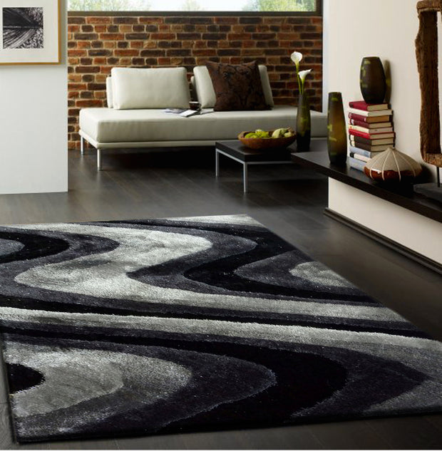 Luxurious Hand Carved Vibrant Living Shag 112 Area Rug by Rug Factory Plus - Rug Factory Plus