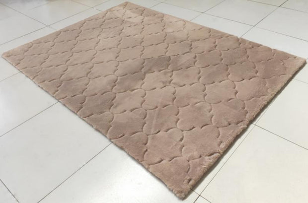 Soft Hand Carved Geometric Design Valentine Lantern Area Rug by Rug Factory Plus - Rug Factory Plus