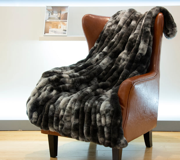 Nuevo Tie-Dye Charcoal Throw by Rug Factory Plus