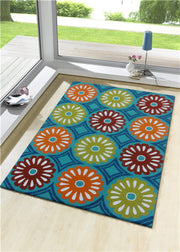 Indoor/Outdoor Loop Pile Water Repellent Vivid Out6 Area Rug by Rug Factory Plus - Rug Factory Plus