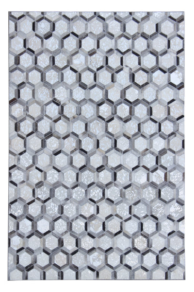 Durable Handmade Natural Leather Patchwork Cowhide PCH153 Area Rugs by Rug Factory Plus - Rug Factory Plus