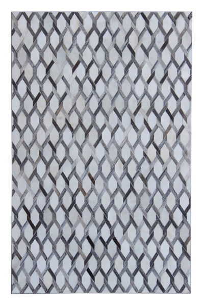 Durable Handmade Natural Leather Patchwork Cowhide PCH156 Area Rug by Rug Factory Plus