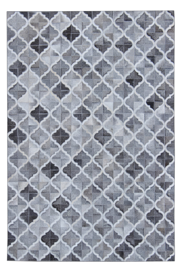 Durable Handmade Natural Leather Patchwork Cowhide PCH157 Area Rug by Rug Factory Plus - Rug Factory Plus