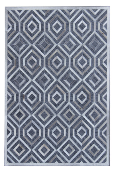 Durable Handmade Natural Leather Patchwork Cowhide PCH159 Area Rug by Rug Factory Plus - Rug Factory Plus