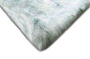 7th Ray Dip Dye Modern Faux Fur Throw by Rug Factory Plus - Rug Factory Plus
