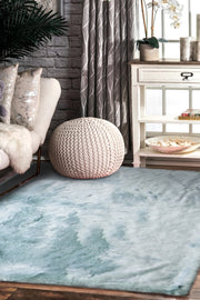 7TH Ray Dip Dye Modern Faux Fur Area Rug by Rug Factory Plus - Rug Factory Plus