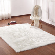 "Modern Fox Faux Fur Luxury Area Rug Appx. 3"" Pile Height by Rug Factory Plus - Rug Factory Plus"