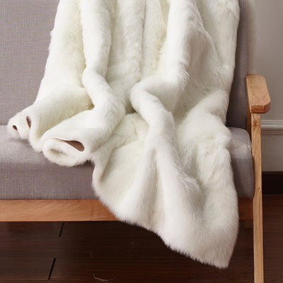 Luxury Soft Faux Fur Sheepskin Area Rug by Rug Factory Plus