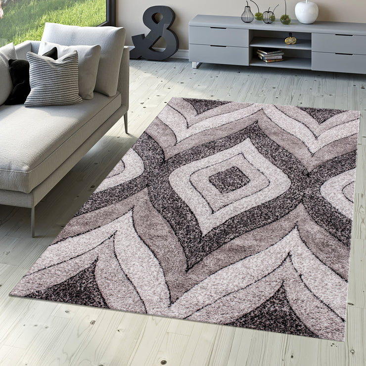 "Three Dimensional Plush Hand Carved Appx. 2"" Pile Sorrento 721 Shag Area Rug by Rug Factory Plus - Rug Factory Plus"