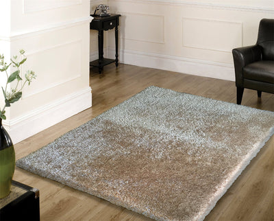 Durable Hand Tufted Multi-textural Solid Designer Shag S.V.S. Area Rug by Rug Factory Plus