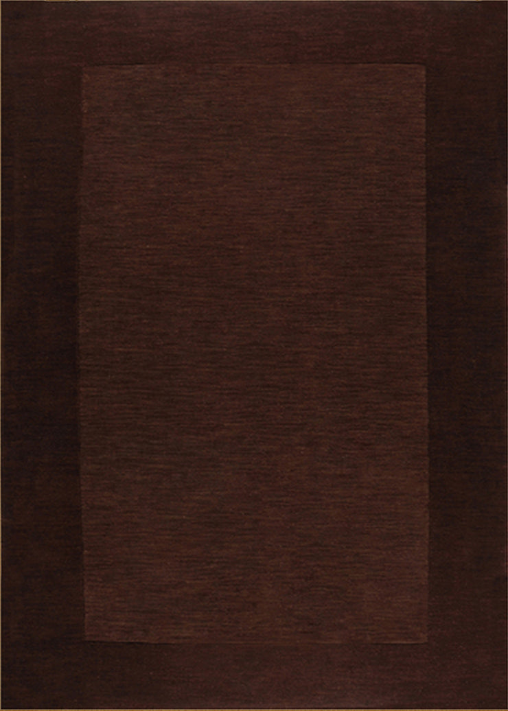 Durable Hand Tufted Transition Solid Brown Area Rug by Rug Factory Plus
