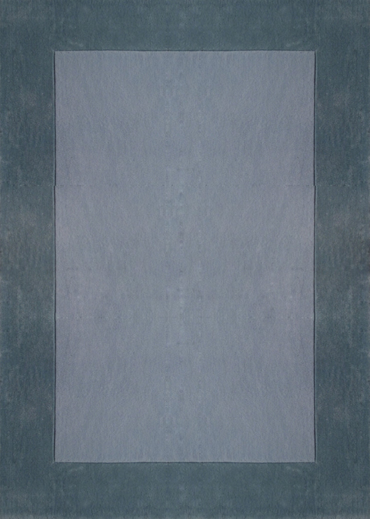 Durable Hand Tufted Transition Solid Gray Area Rug by Rug Factory Plus