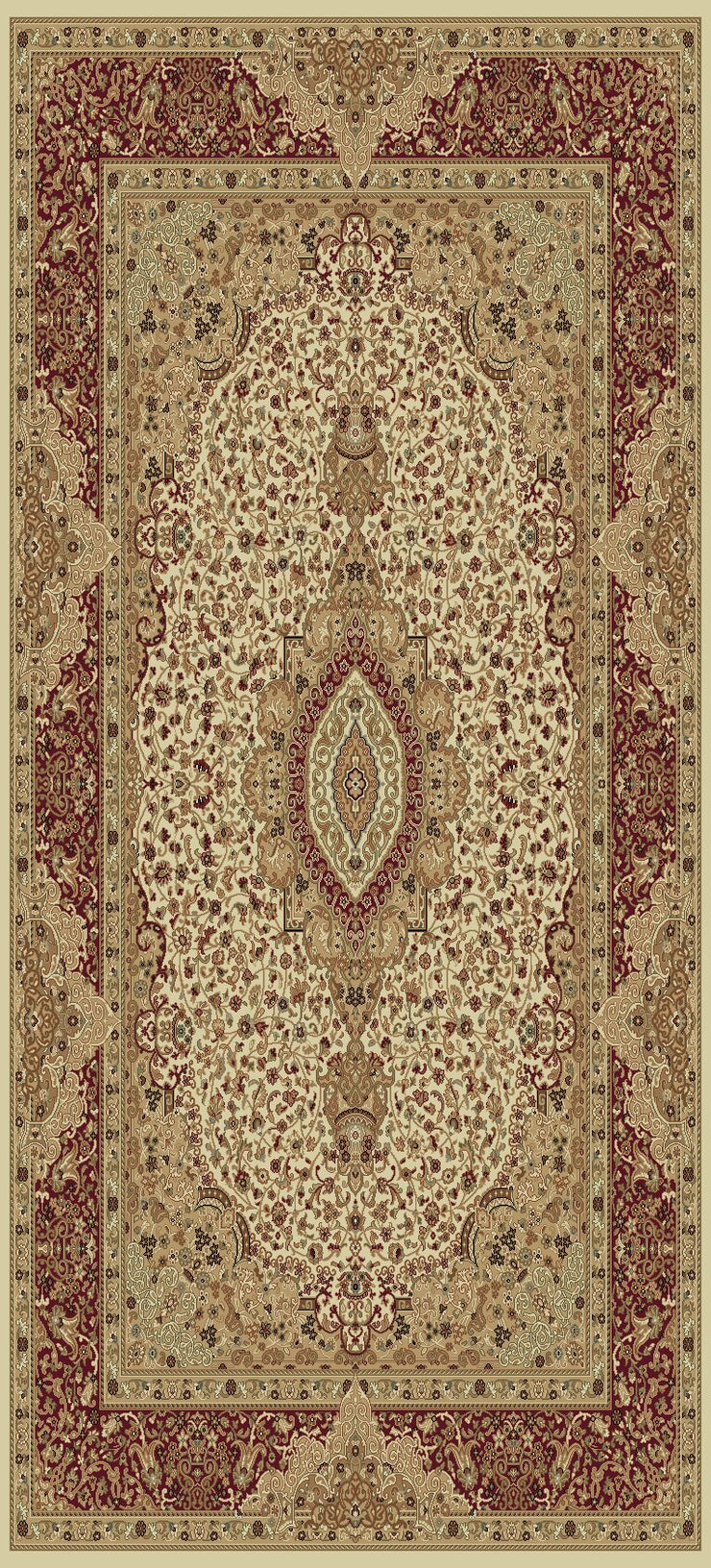 Persian Design 1.5 Million Point Heatset Tabriz 3695 Area Rug by Rug Factory Plus - Rug Factory Plus