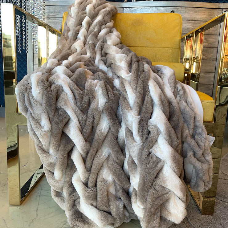 Soft Heavy Faux Fur Loufie Throw by Rug Factory Plus - Rug Factory Plus