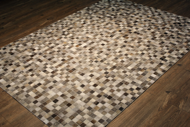 Durable Handmade Natural Leather Patchwork Cowhide Tikkul Area Rug by Rug Factory Plus - Rug Factory Plus