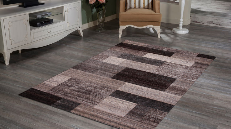 Power Loomed Hand Carved Geometric Design Tara 303 Area Rug by Rug Factory Plus - Rug Factory Plus