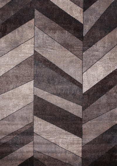 Power Loomed Hand Carved Geometric Design Tara 306 Area Rug by Rug Factory Plus