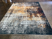 Vintage Style Soft Polyester Print on Design Elevate 241 Area Rug by Rug Factory Plus