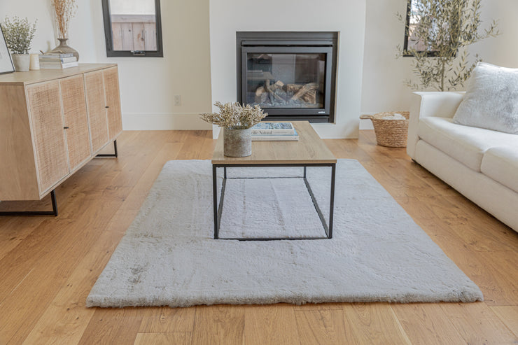 Chinchilla Feel Faux Fur Area Rug by Rug Factory Plus