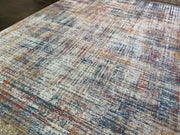 Vintage Style Soft Polyester Print on Design Elevate 238 Area Rug by Rug Factory Plus