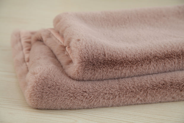 Modern Soft Luxury Chinchilla Feel Faux Fur Throw by Rug Factory Plus - Rug Factory Plus