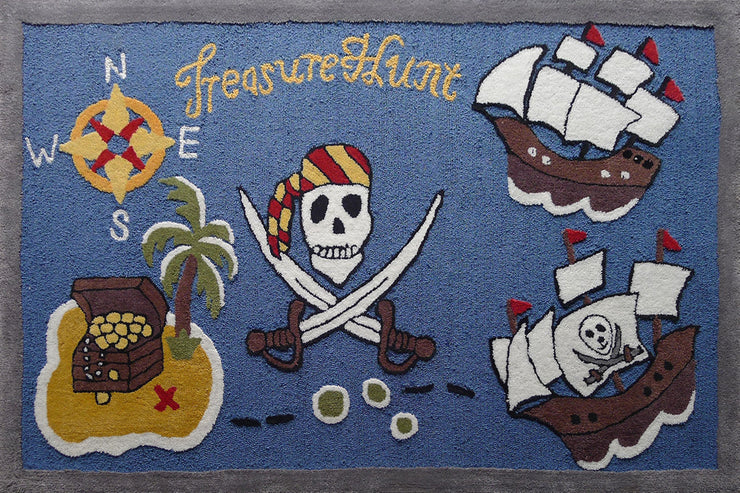 Soft Hand Carved Kids Zoomania Treasure Hunt Area Rug by Rug Factory Plus - Rug Factory Plus