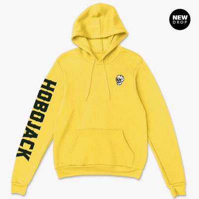 EMBROIDERED JIMMY SKULL 1ST EDT YELLOW HOODY
