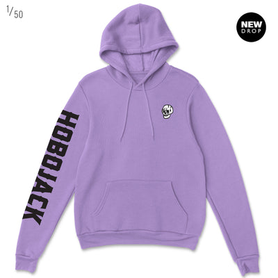 EMBROIDERED JIMMY SKULL 1ST EDT VIOLET HOODY