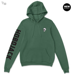 EMBROIDERED JIMMY SKULL 1ST EDT BOTTLE GREEN HOODY