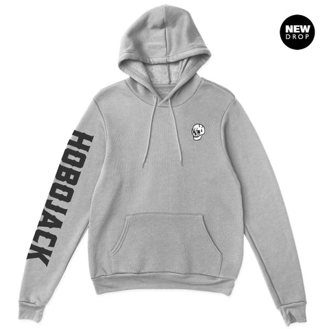 EMBROIDERED JIMMY SKULL 1ST EDT GREY HOODY