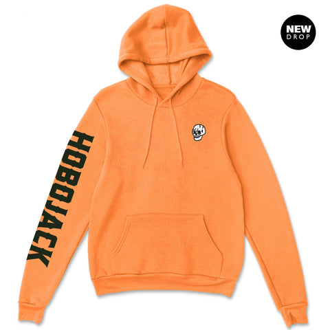 EMBROIDERED JIMMY SKULL 1ST EDT ORANGE HOODY