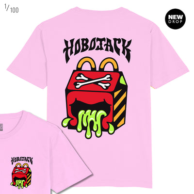 JcDONALDS - ASH PRICE COLLAB - PINK T-SHIRT