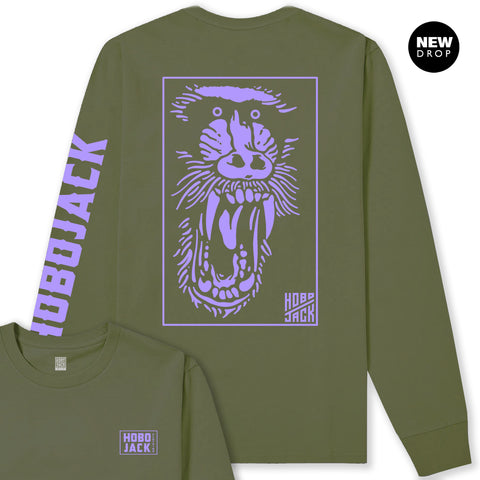KHAKI & PURPLE BABOON LONG SLEEVE