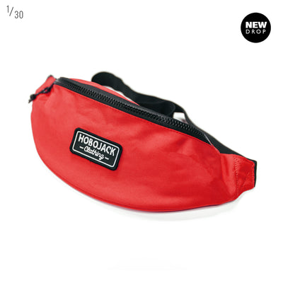 RED EMBROIDERED SHOULDER / WAIST PACK