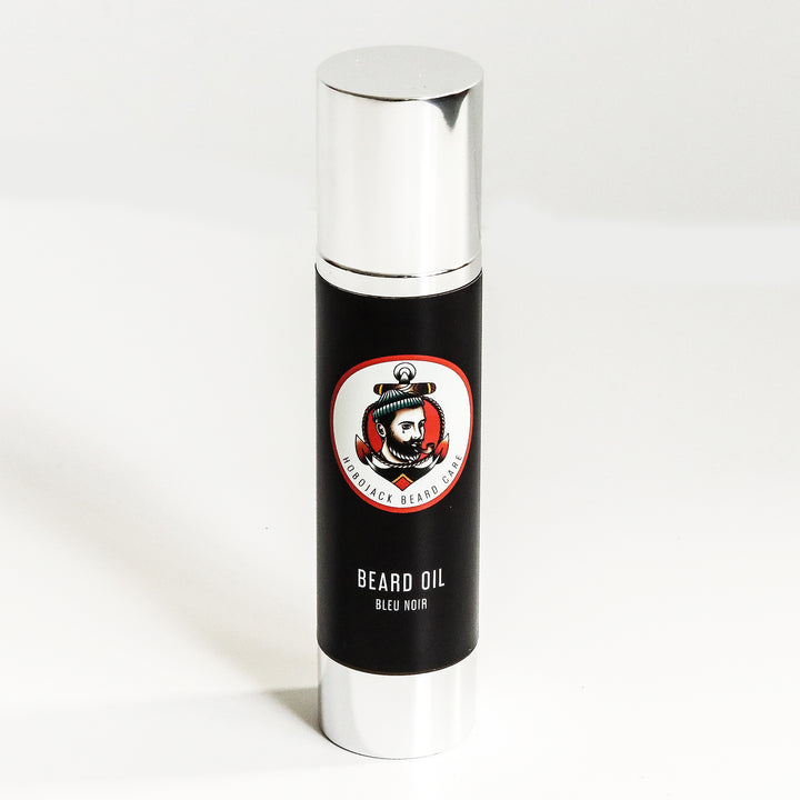 Beard Oil - Bleu Noir - 100ml (Large Bottle) By Hobo Jack
