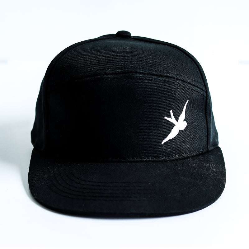 Classic Swallow Pitcher Cap - Originals Collection - Black/White