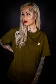 ECO HEAVY - MILITARY GREEN - 220GSM SWLW TEE