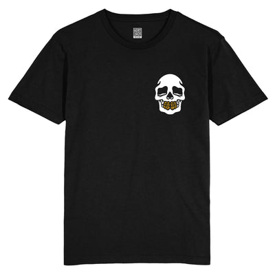 GOLD GRILL POCKET BLACK T-SHIRT