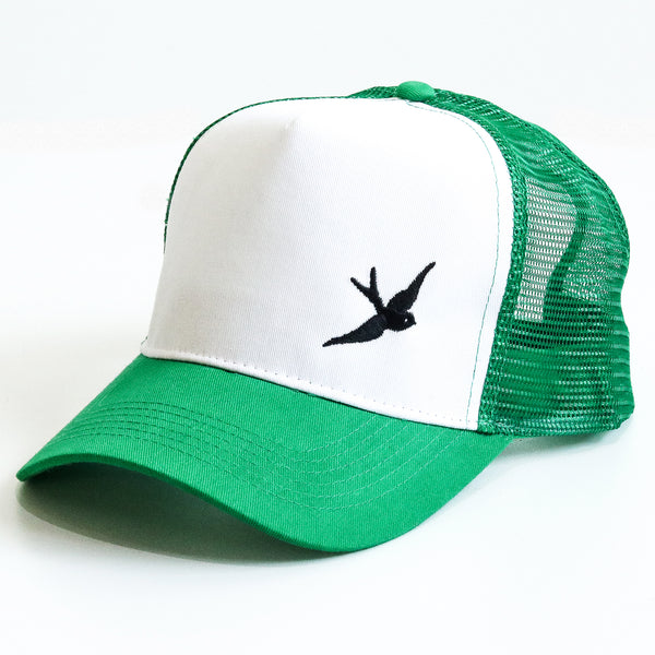 Classic Swallow Trucker Cap - Originals Collection - Green/White