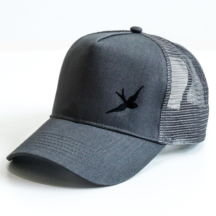 Classic Swallow Trucker Cap - Originals Collection - Gunmetal Grey