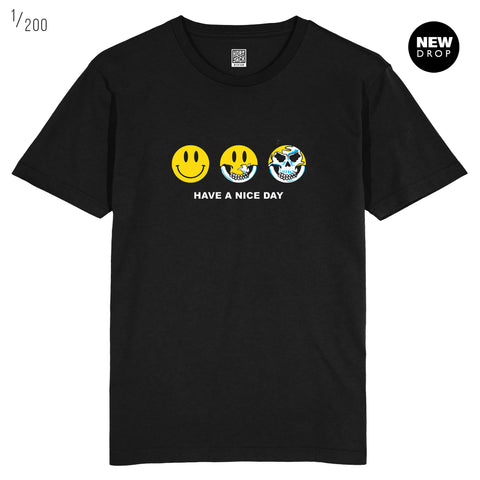HAVE A NICE DAY BLACK T-SHIRT