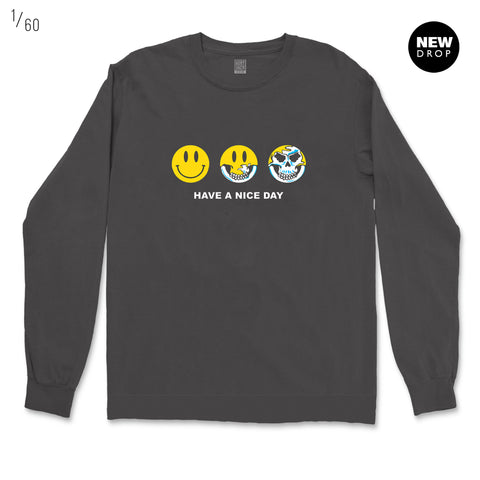 HAVE A NICE DAY DARK GREY ORGANIC SWEATSHIRT