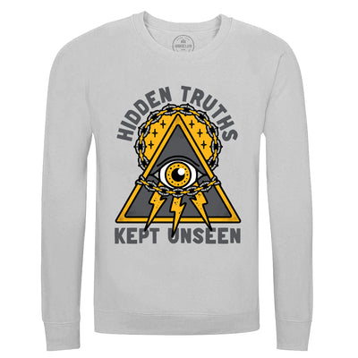 HIDDEN TRUTHS - DUDEY X HOBOJACK CONSPIRACY COLLECTION - GREY SWEATSHIRT