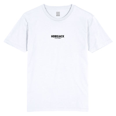 HOBOJACK CHEST LOGO WHITE T-SHIRT