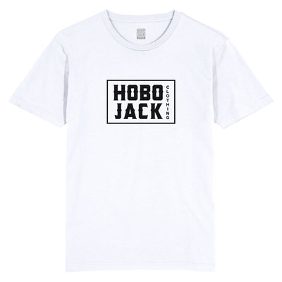 HOBO JACK BOX LOGO WHITE T-SHIRT