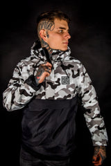 SNOW CAMO - CBT20 - PULLOVER - SHERPA LINING
