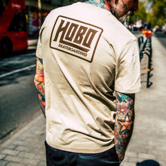 Hobo Logo Front & Back T-Shirt - Vintage / Tan