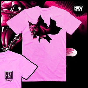 STOCKINGS X HOBOJACK - CATFISH - (300 LIMITED EDITION) - PINK T-SHIRT - FRONT & BACK PRINT