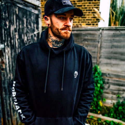 EMBROIDERED JIMMY SKULL 1ST EDT BLACK HOODY